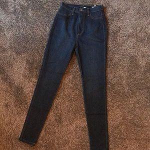 Dark Wash High Waist Skinny Jeans
